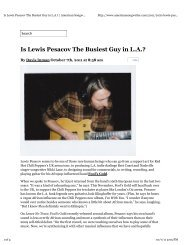 Fool's Gold's Lewis Pesacov featured on American Songwriter