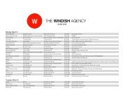 master guide to SxSW here - The Windish Agency