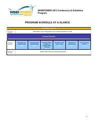 program schedule at a glance - AWEA WINDPOWER Conference ...