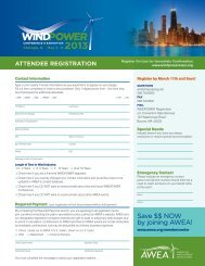 Save $$ NOW by joining AWEA! - AWEA WINDPOWER Conference ...