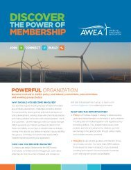 Committees and Working Groups - American Wind Energy Association
