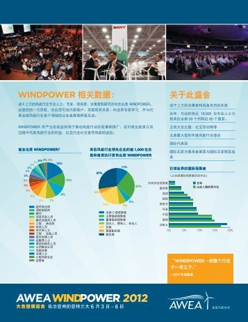 下载您所用语言的信息 - AWEA WINDPOWER Conference & Exhibition