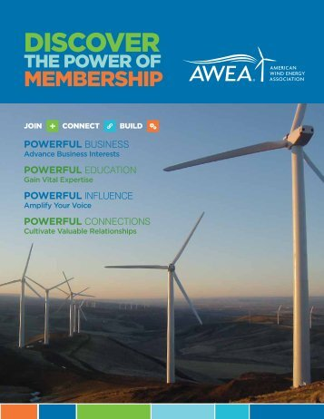 Membership Benefits Brochure - AWEA WINDPOWER Conference ...
