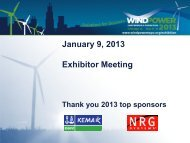 Intro/welcome slide thanks 2012 top sponsors dnv, nrg - AWEA ...