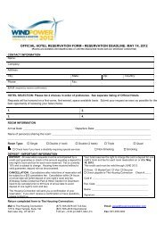 Housing Form with Hotel List - AWEA WINDPOWER Conference ...