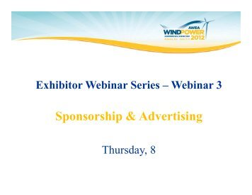 Sponsorship & Advertising - AWEA WINDPOWER Conference ...