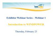 Introduction to WINDPOWER - AWEA WINDPOWER Conference ...