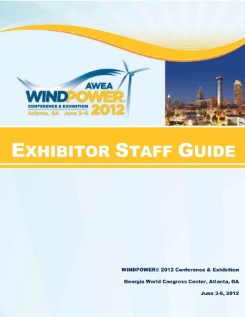 exhibitor staff guide - AWEA WINDPOWER Conference & Exhibition