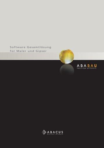 Software Gesamtlösung für Maler und Gipser - ABACUS Research AG