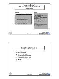 Grundlagen der Modellierung und