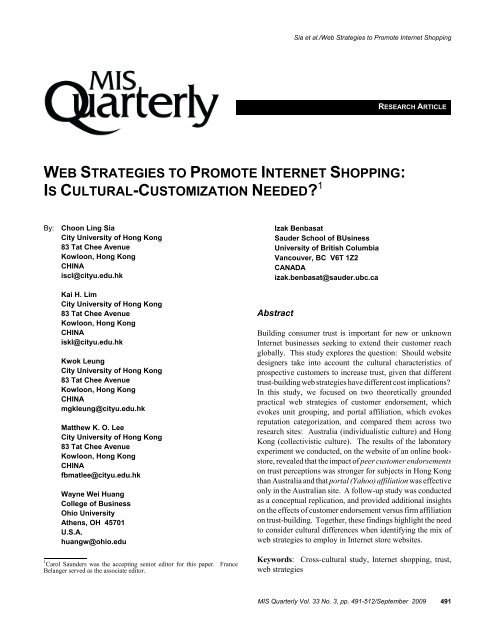 Web strategies to promote internet shopping: is cultural