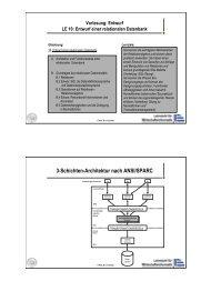 3-Schichten-Architektur nach ANSI/SPARC