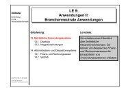 Branchenneutrale Anwendungen - Lehrstuhl für Wirtschaftsinformatik