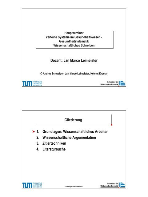 Wiss Arbeiten.pdf - Lehrstuhl für Wirtschaftsinformatik
