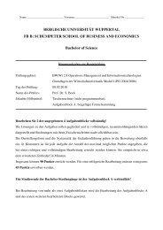 WS 09/10 - WINFOR - Bergische Universität Wuppertal