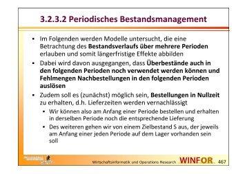 3.2.3.2 Periodisches Bestandsmanagement - WINFOR