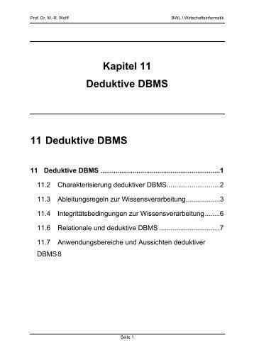 Deduktive Datenbanksysteme - WINFOR