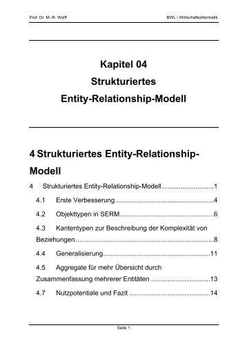 Kapitel 04 Strukturiertes Entity-Relationship-Modell 4 ... - WINFOR