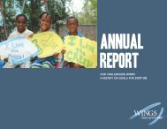OUR CHALLENGING WORK A REPORT ON ... - Wings For Kids