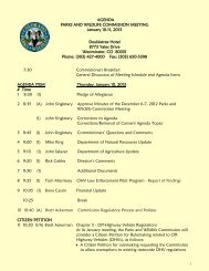 January 2013 Parsk and Wildlife Commission Meeting Agenda