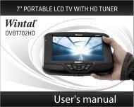 User's manual - Wintal