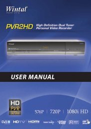 Download the PVR2HD Manual - Wintal