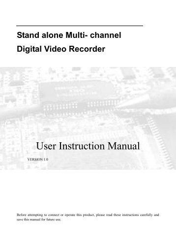 Stand alone Multi- channel Digital Video Recorder - Wintal