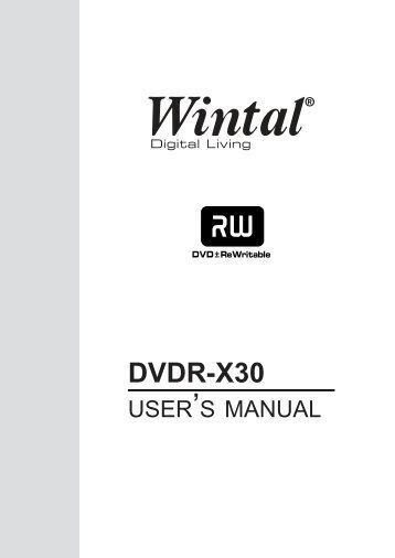DVDR-X30 - Wintal