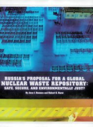 Russia's Proposal for a Global Nuclear Waste Repository