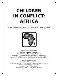 children in conflict: africa - Wisconsin International Outreach ...