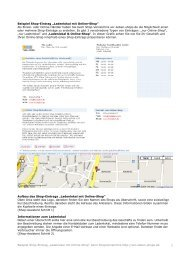 Ladenlokal mit Online-Shop - Shopverzeichnis für Geschäfte und ...