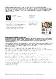 Online-Shop - Shopverzeichnis für Geschäfte und Online-Shops