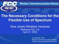 The Necessary Conditions for the Flexible Use of Spectrum
