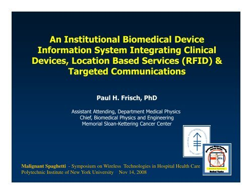 An Institutional Biomedical Device Information System