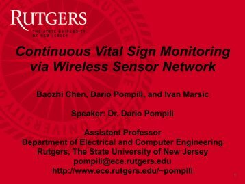 Continuous Vital Sign Monitoring via Wireless Sensor Network
