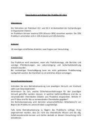 Organisation und Ablauf der Praktika OC I & II Allgemeines Die ...
