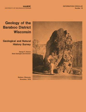 IC14. Geology of the Baraboo District, Wisconsin: A description and ...