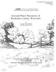 IC29. Ground-water resources of Waukesha County, Wisconsin.