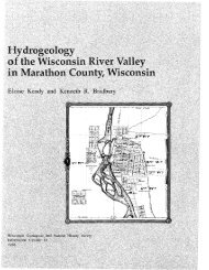 IC64. Hydrogeology of the Wisconsin River Valley in Marathon ...