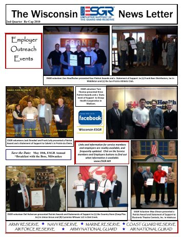 Employer Outreach Events - Wisconsin Service Member Support ...