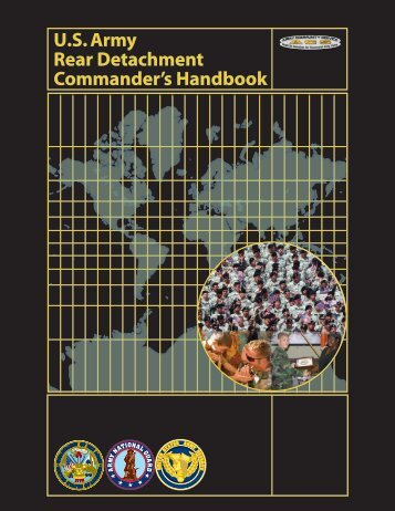 U.S. Army Rear Detachment Commander's Handbook - Wisconsin ...