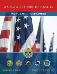 A Survivor's Guide to Benefits - Wisconsin Service Member Support ...