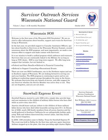 October 2010 – Volume 1, Issue 1-A Bi-monthly Newsletter