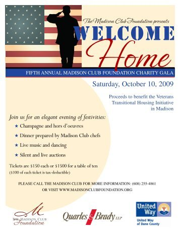 Charity Gala Flyer 2.. - Wisconsin Service Member Support Division