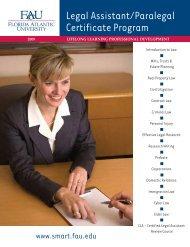 legal assistant certificate program - Florida Atlantic University