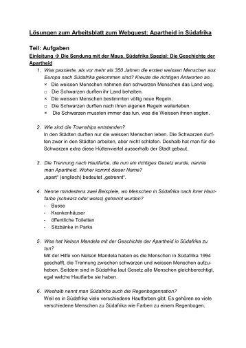 Arbeitsblatt Steinbock mit Lösungen