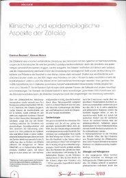 Klinische und epidemiologische Aspekte der Zöliakie - WebQuests