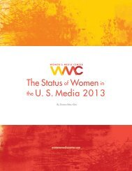 The Status of Women in the U. S. Media 2013