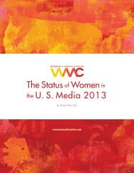 The Status of Women in the U.S. Media 2013 report