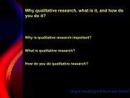 Qualitative research - Waikato Management School